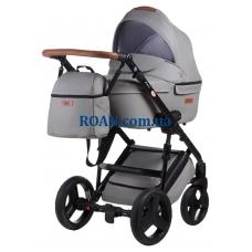 Универсальная коляска 2в1 Bair Leo кожа 100% GN-45 светло-серый