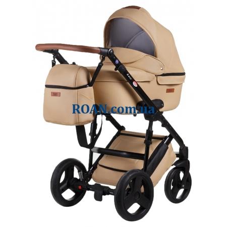 Универсальная коляска 2в1 Bair Leo кожа 100% GN-44 бежевый