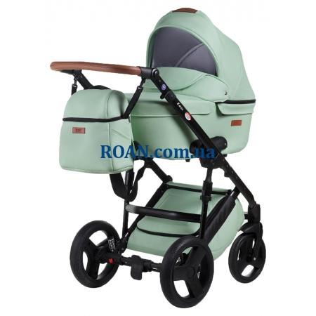 Универсальная коляска 2в1 Bair Leo кожа 100% GN-33 мятный