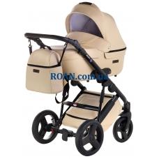 Универсальная коляска 2в1 Bair Leo кожа 100% GN-30 светло-бежевый