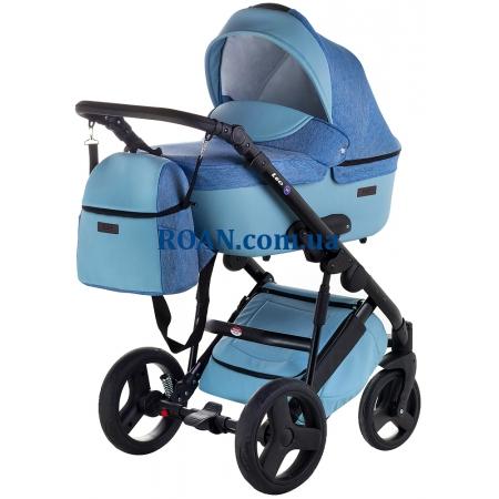Универсальная коляска 2в1 Bair Leo джинс-кожа GN-27 синий джинс - голубая кожа