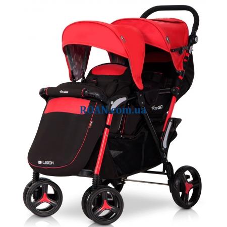 Прогулочная коляска EasyGo Fusion Duo Scarlet