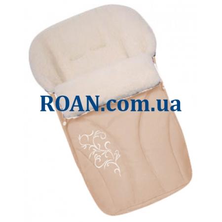 Конверт на овчине Womar №25 с вышивкой Beige