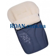 Конверт на овчине Womar №25 с вышивкой Dark Blue