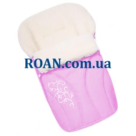 Конверт на овчине Womar №25 с вышивкой Pink
