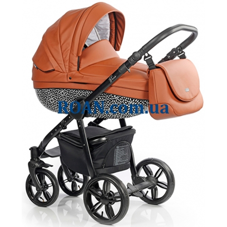 Универсальная коляска 2в1 Roan Bass Eco B6 Cinnamon Black