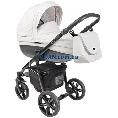Универсальная коляска 2в1 Roan Bass Eco Carbon Black Coconut Black