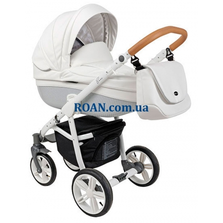 Универсальная коляска 2в1 Roan Bass Eco Carbon White Coconut White