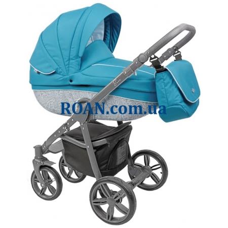 Универсальная коляска 2в1 Roan Bass B2 blue grey