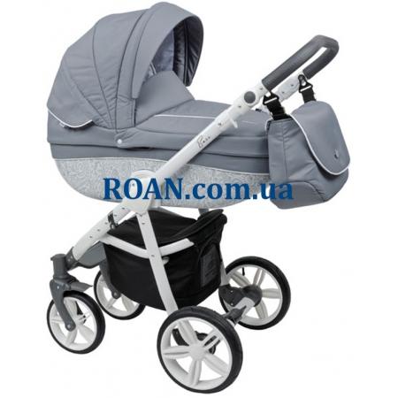 Универсальная коляска 2в1 Roan Bass B2 silver white