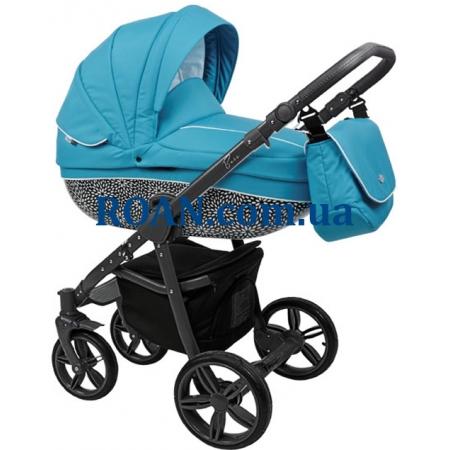 Универсальная коляска 2в1 Roan Bass B6 blue black