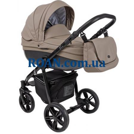 Универсальная коляска 2в1 Roan Bass Eco Carbon Black Cappuccino Black