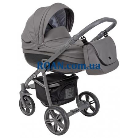 Универсальная коляска 2в1 Roan Bass Eco Carbon Black Mountain Grey