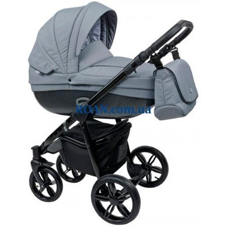 Универсальная коляска 2в1 Roan Bass Carbon Black Silver Black