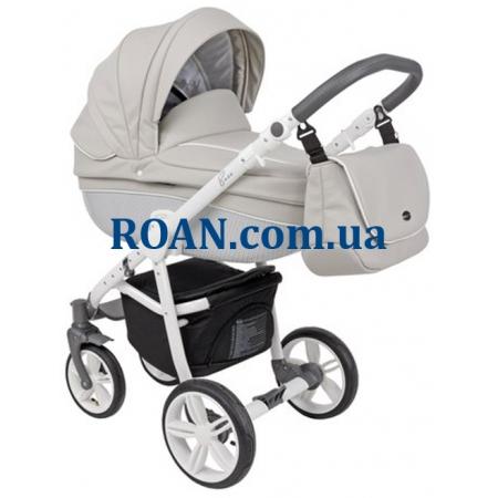 Универсальная коляска 2в1 Roan Bass Eco Carbon White Stone White