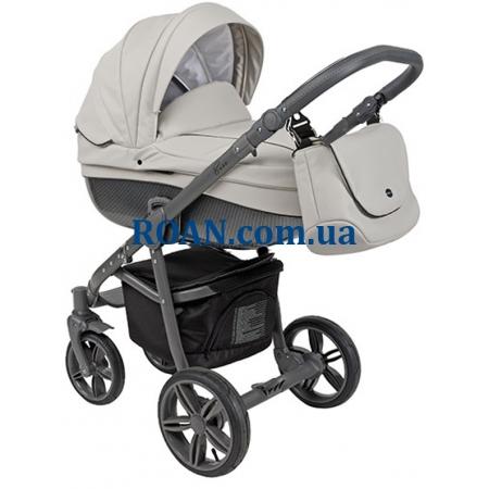 Универсальная коляска 2в1 Roan Bass Eco Carbon Black Stone Grey