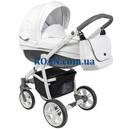 Универсальная коляска 2в1 Roan Bass Eco Carbon Black Coconut White