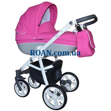 Универсальная коляска 2в1 Roan Bass Carbon White Pink White